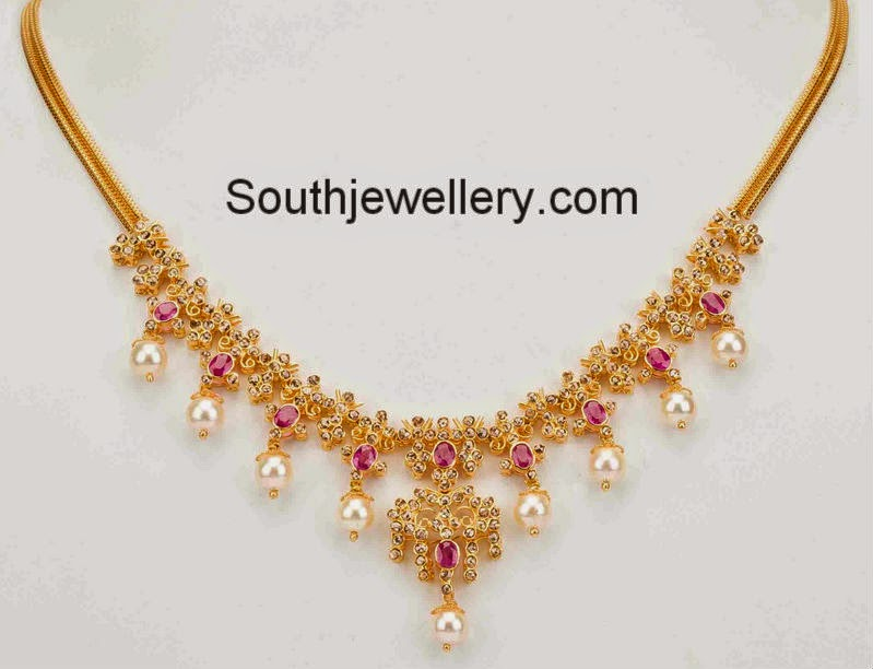 Uncut Diamond Necklace Sets With Price Uncut Diamond Necklace