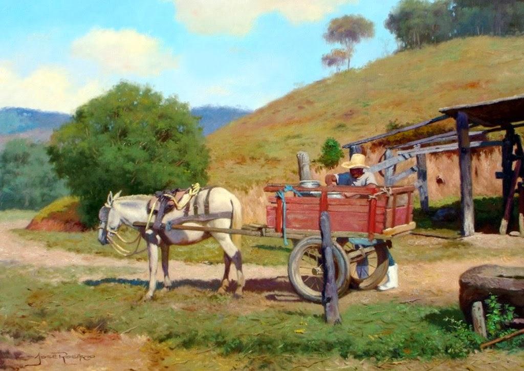 Arte pinturas leo paisajes del campo pinturas realistas for Pinturas para casas de campo