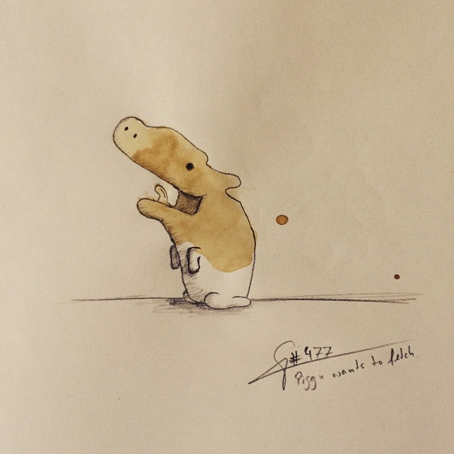 18-Piggy-Stefan-Kuhnigk-Monster-Drawings-within-Coffee-Stains-www-designstack-co