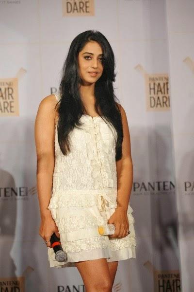 Mahi Gill in short white dress