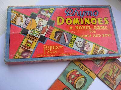 Vintage Rhyming Domino Game