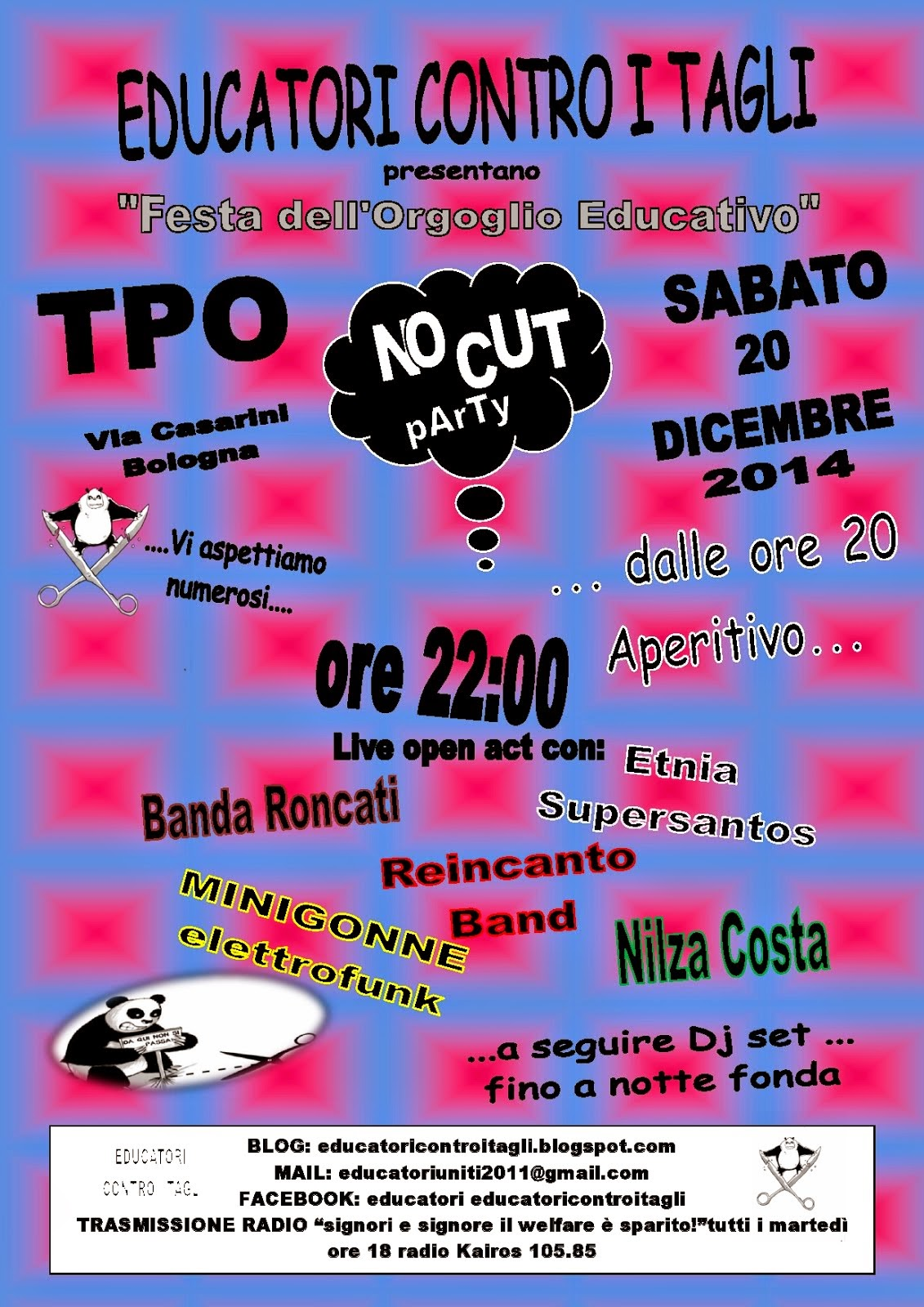 """20 DICEMBRE 2014 """"FESTA DELL'ORGOGLIO EDUCATIVO"""