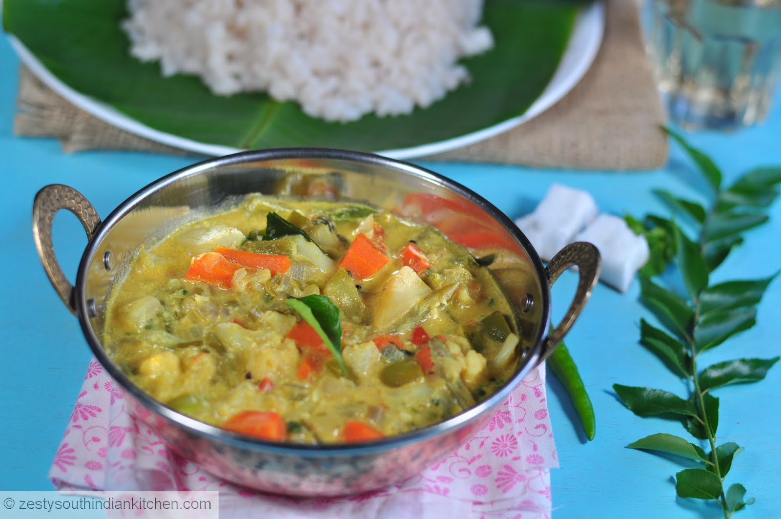 how to make mix vegetable curry in coconut milk