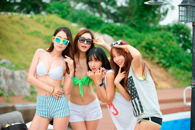 2 Lee Ji Na - Tiger Beach Festival - very cute asian girl-girlcute4u.blogspot.com