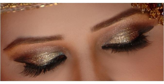 Glitter Bridal Eye Makeup