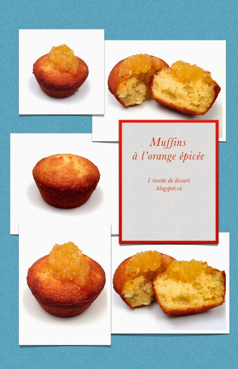 1 recette de dessert muffins l orange pic e. Black Bedroom Furniture Sets. Home Design Ideas