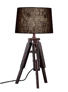 Tripod table lamp bronze