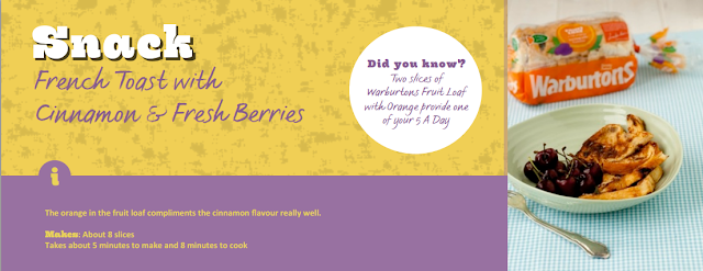 Warburtons - French Toast with Cinnamon & Fresh Berries