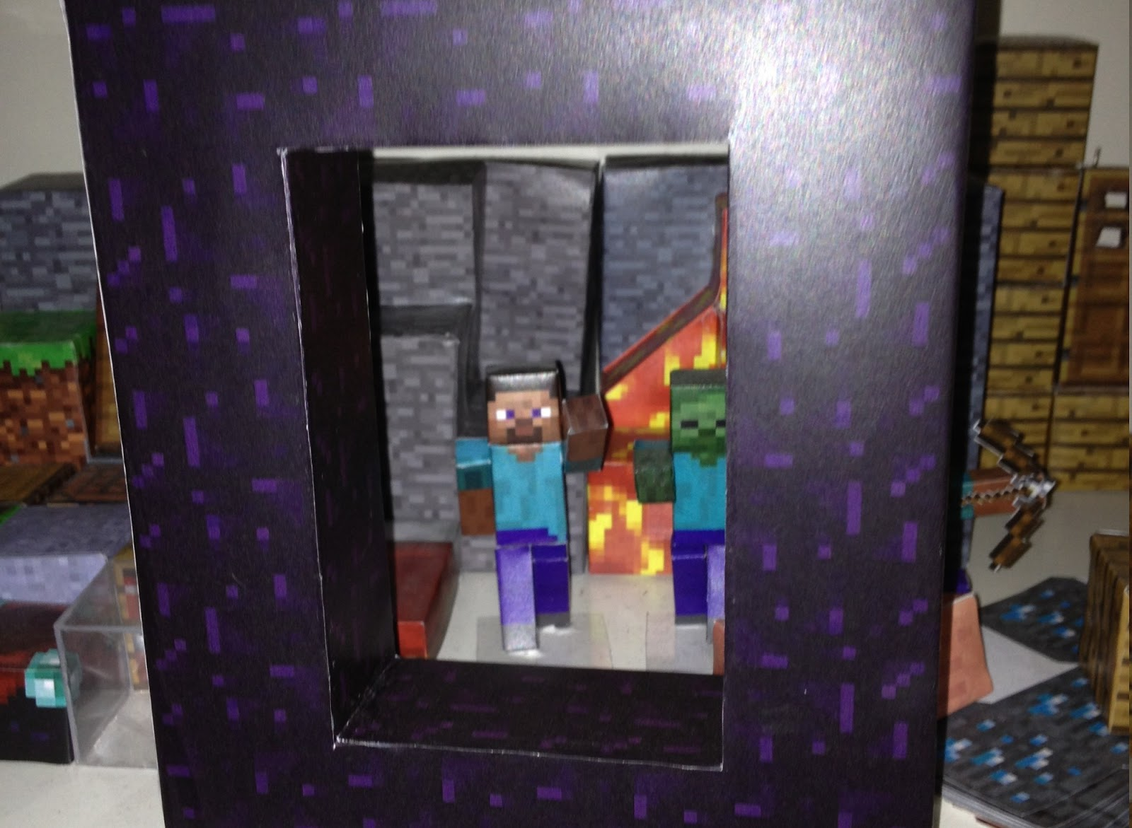 Otra Estructura Para Minecraft Y Esta Vez Le Toca El Turno A Una Muy Conocida Por Todos Portal Al Nether Pronto Subire La Plantilla Necesaria