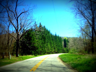 Winding roads in Ohio's Hocking Hills