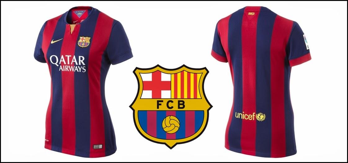 Nike FC Barcelona Home WOMEN's Jersey 14-15