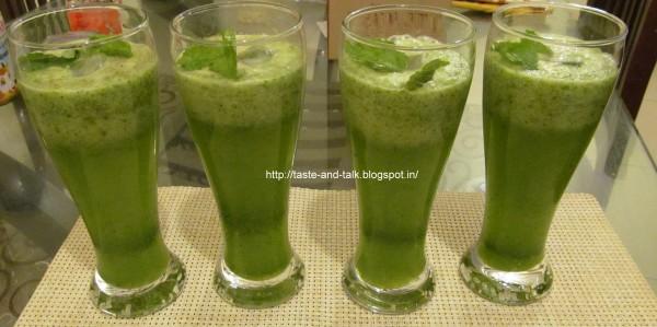 Mint Cucumber Sorbet