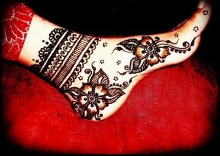 Easy Feet Mehndi Designs : Mehndi design for hands easy feet heena designs