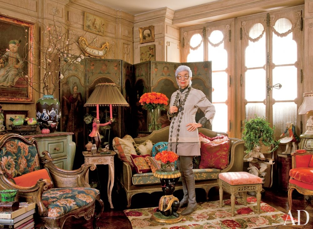Iris Apfel is an interior designer, fashion icon and a
