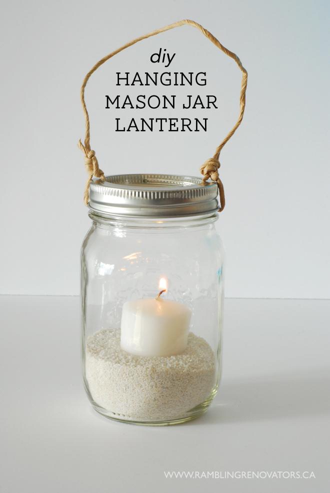hanging mason jar lantern rambling renovators