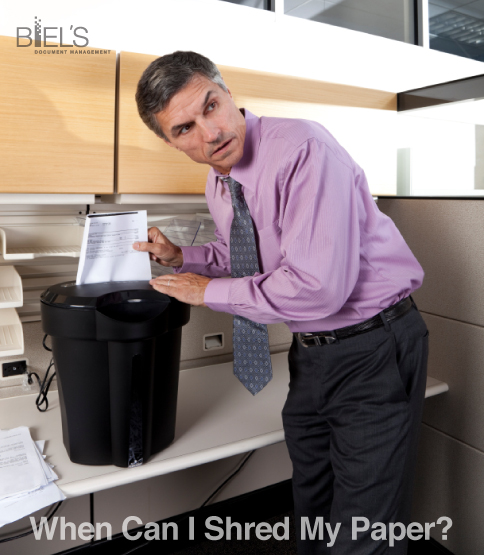 when can i shred my paper biel39s dm the document With where can i get documents shredded