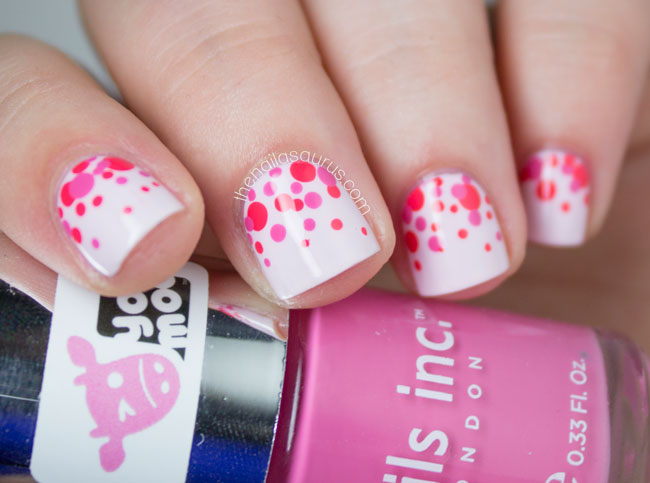 yoomoo #guiltfreeze Polka Dot Nail Art