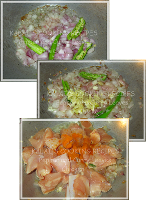 Pepper and Curry Leaves Chicken Sukka