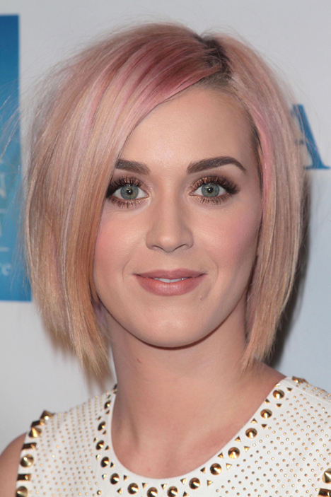 katy perry pink hair bob