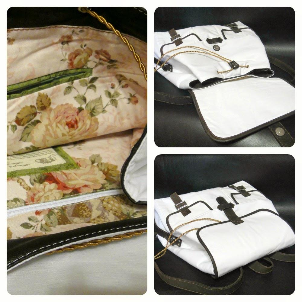 Белый женский рюкзак для девушки