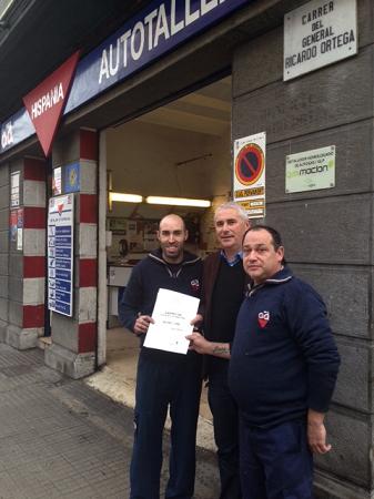 Autotaller Hispania colaborador de Gasmocion con la certificación ISO 9001 de calidad.