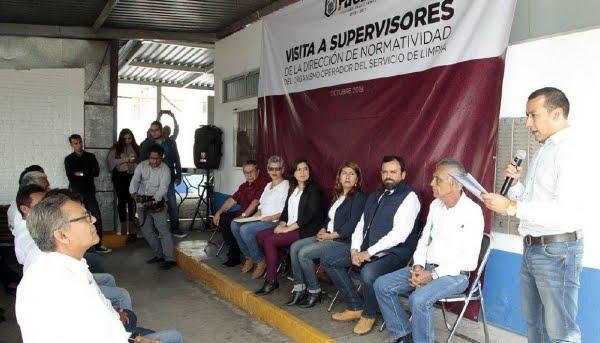CLAUDIA RIVERA VIVANCO SE REUNIÓ CON SUPERVISORES DEL ORGANISMO OPERADOR SERVICIO DE LIMPIA