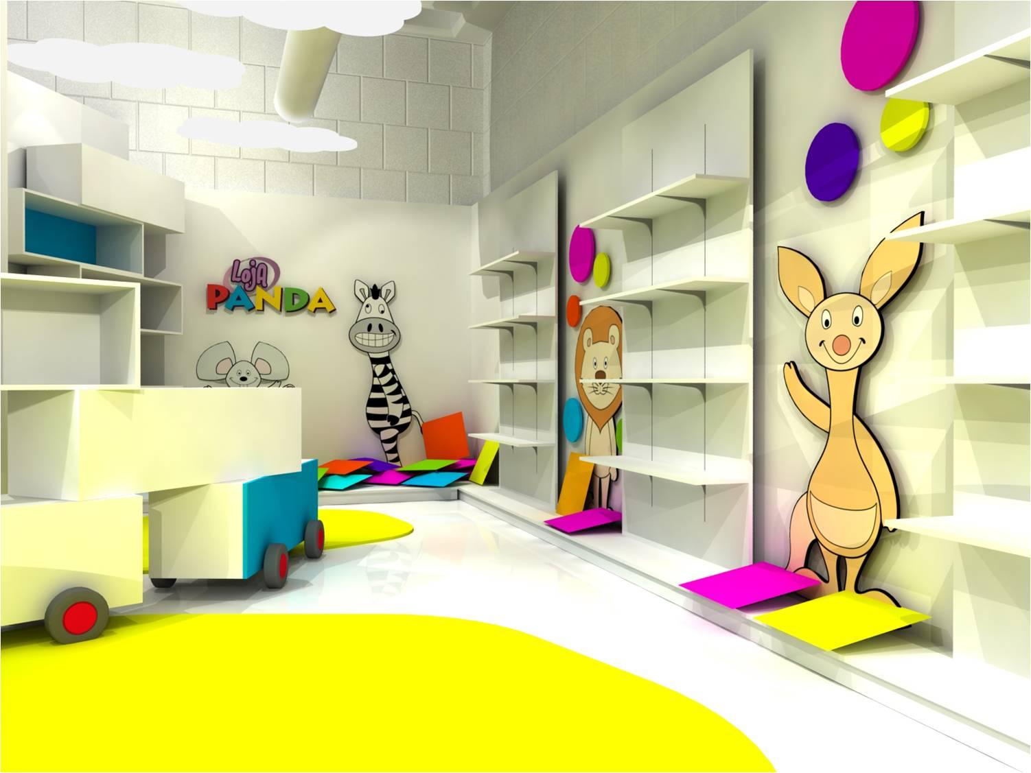 Proyecto de espacio comercial para canal panda canal Mobiliario para espacios reducidos