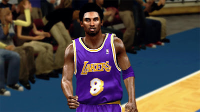 NBA 2K13 Kobe Bryant Afro Hair Cyberface Patch