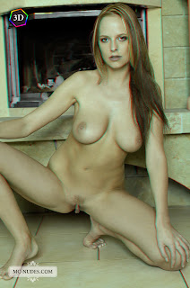 "Carmen Gemini - ""Farmhouse"" 3D by Mc-Nudes 5 (Tubbea, Beatrix, Monika A) nude redhead crouching"
