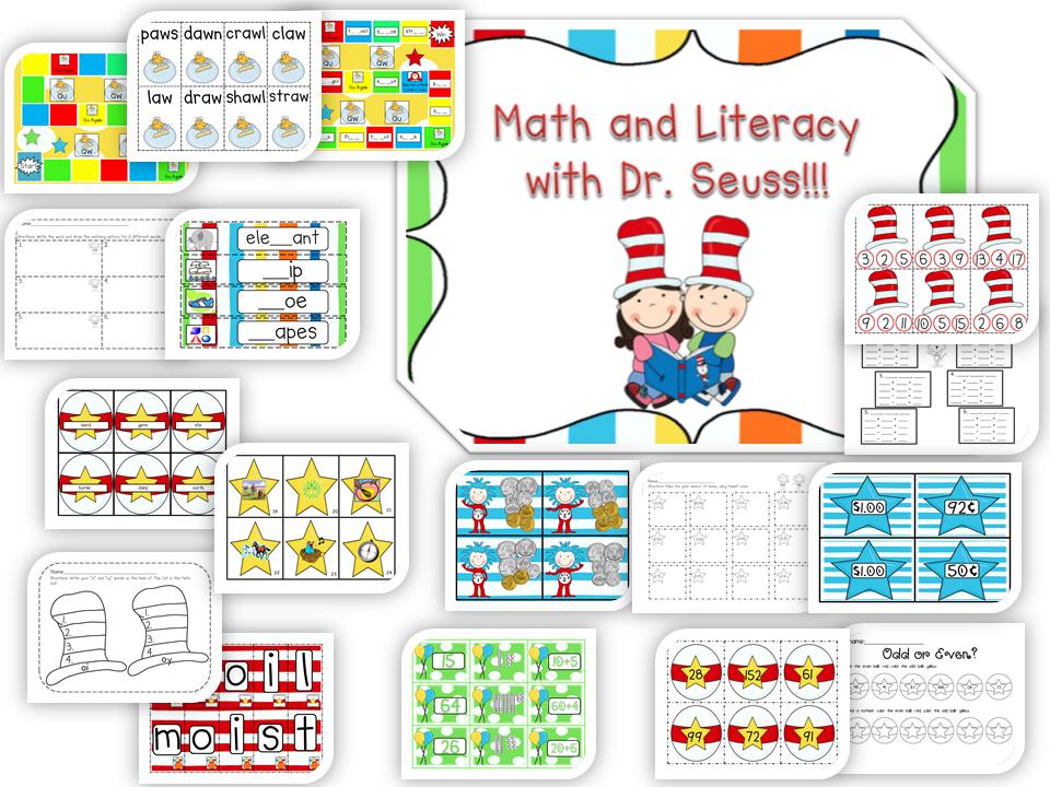 math worksheet : happy teaching first dr seuss math and literacy on tpt and a  : Dr Seuss Math Worksheets