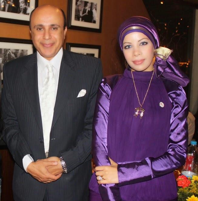 مع الفنان مجدى صبحى عام 2010