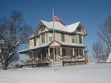 Iowa Farmhouse Hollyhocks
