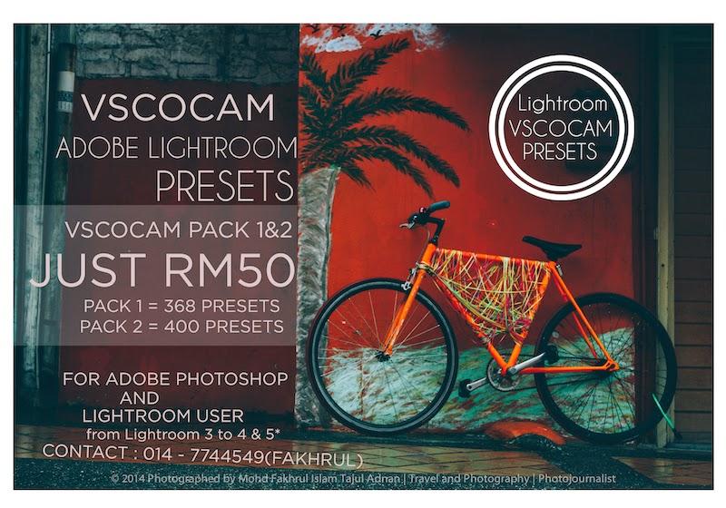 VSCOCAM presets for Adobe Lightroom and Adobe Photoshop