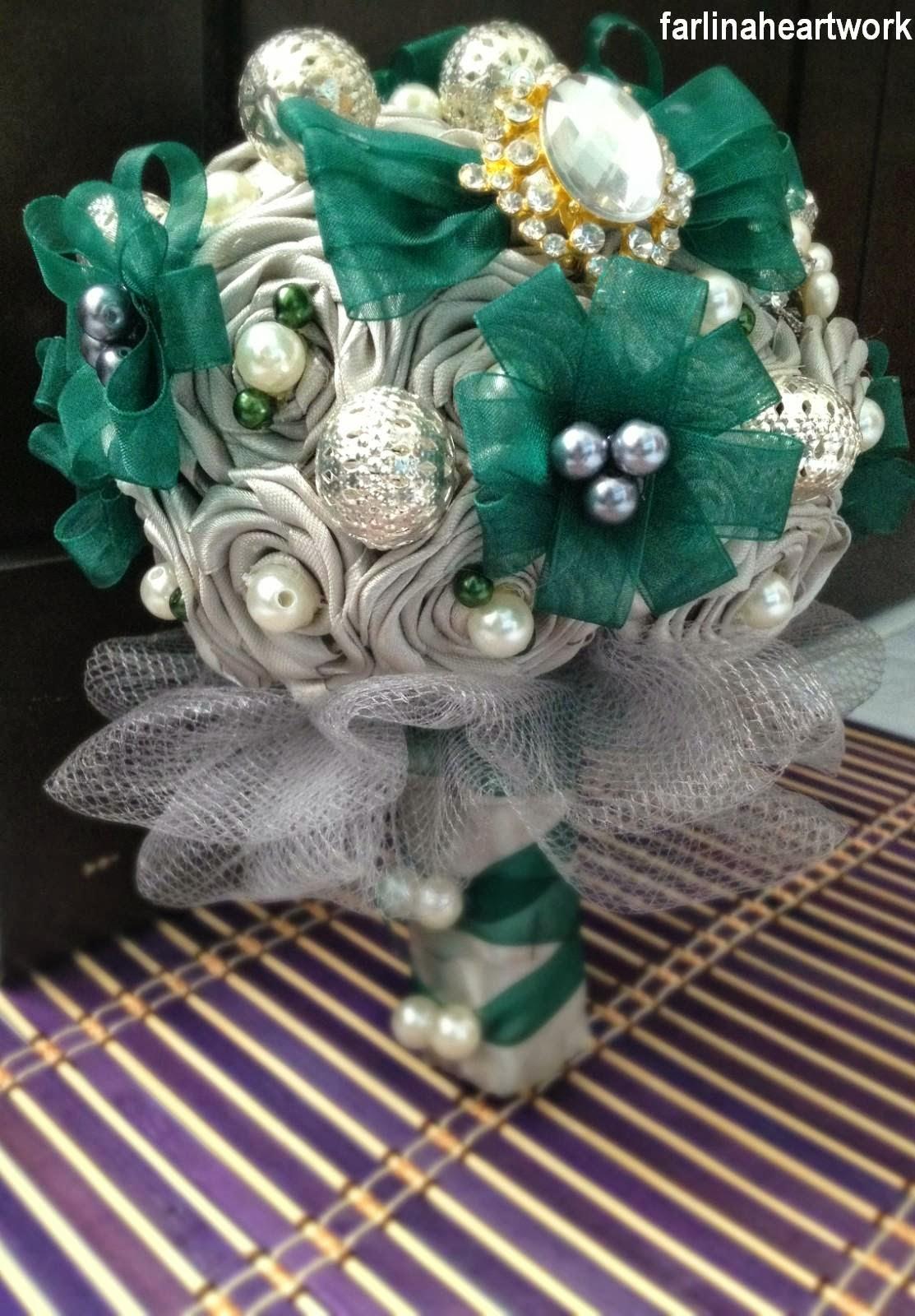 Farlina Heart Work: Wedding Theme: Emerald Green and Silver (Hand ...