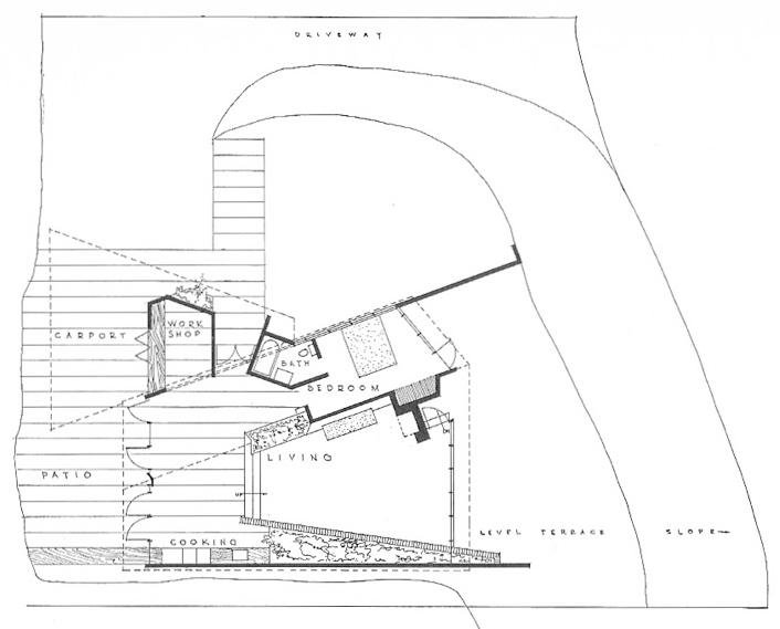Chemosphere Floor Plan Floor Plan Of The Chemosphere House