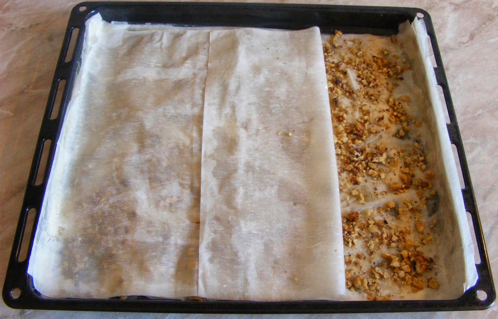 preparare baclavale, cum se prepara baclavale, cum facem baclava, cum se prepara baclava cu foi de placinta si nuca, retete si preparate culinare baclava,