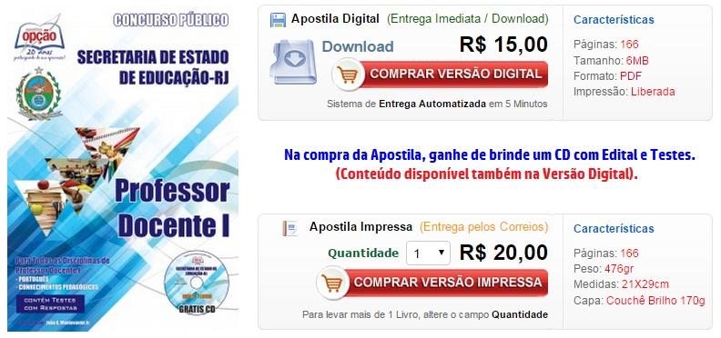 baixar,apostila,SEEDUC-RJ,pdf,concurso,2015,2014