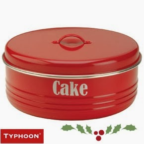 Red Candy Vintage Style Cake Tin