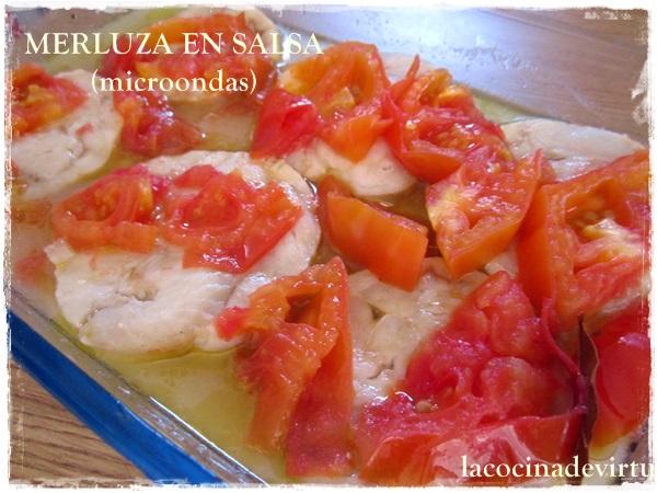 La cocina de virtu merluza en salsa microondas - Cocinar merluza en salsa ...