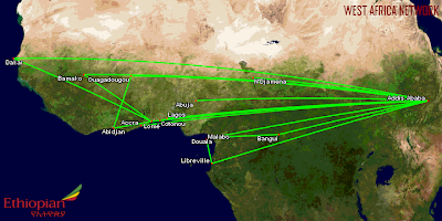 Ethiopian Airlines West African Network