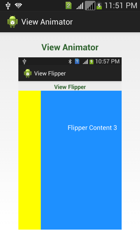 ViewAnimator Widget