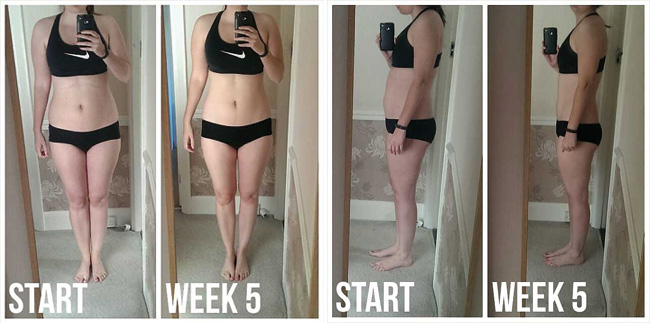 Kayla Itsines Bikini Body Guide progress