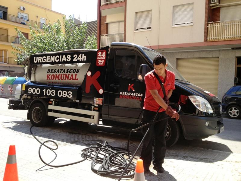 Desatasco de tuberías en Mataró