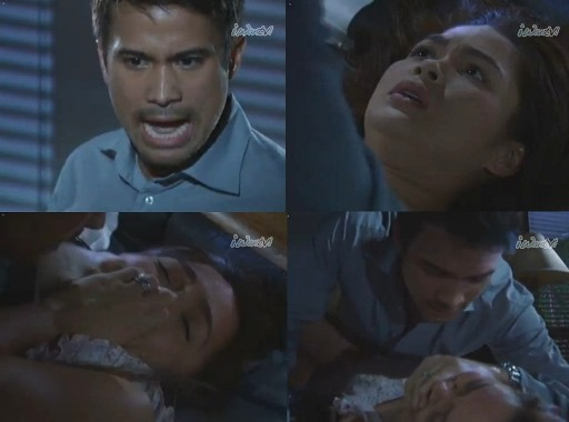 Sam Milby as Eros rapes wife Anessa played by Judy Ann Santos