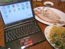 ordenador y alimientos