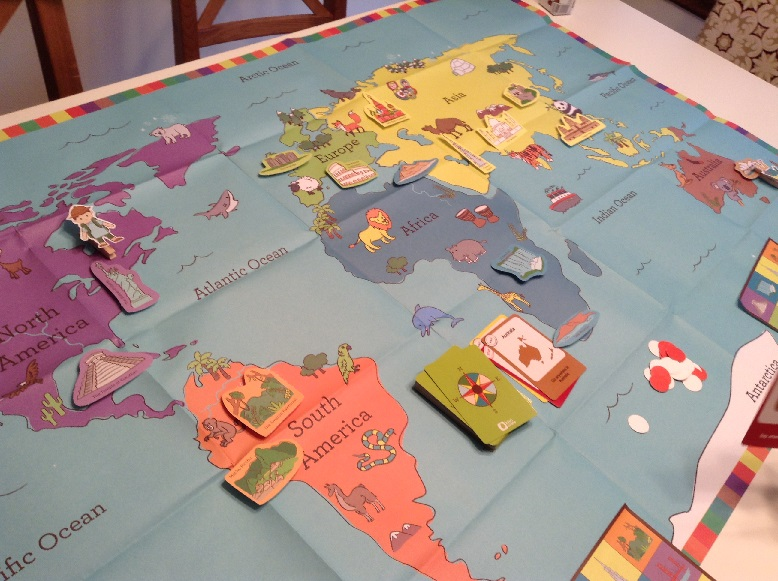 Kiwi Crate Continents Game for Kids
