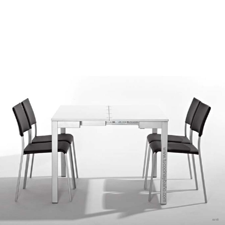 Precio mesa cocina cristal extensible moderna redonda tu for Sillas de cocina plegables