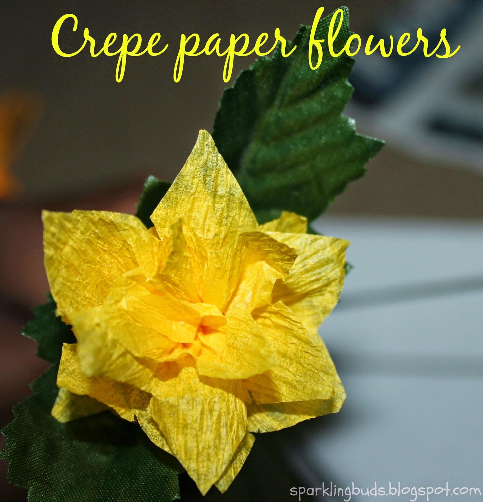 Crepe Paper Flowers Sparklingbuds
