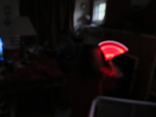 blurred-out picture of a red glow stick