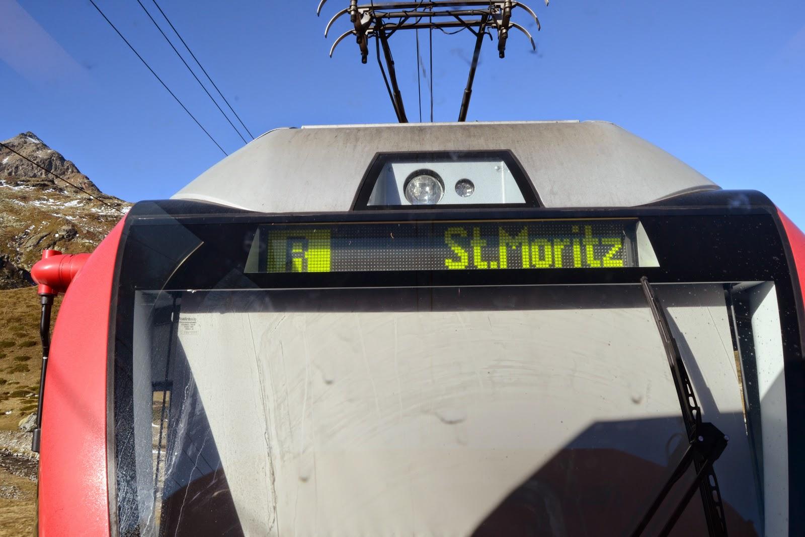 Bernina Express to St.Moritz